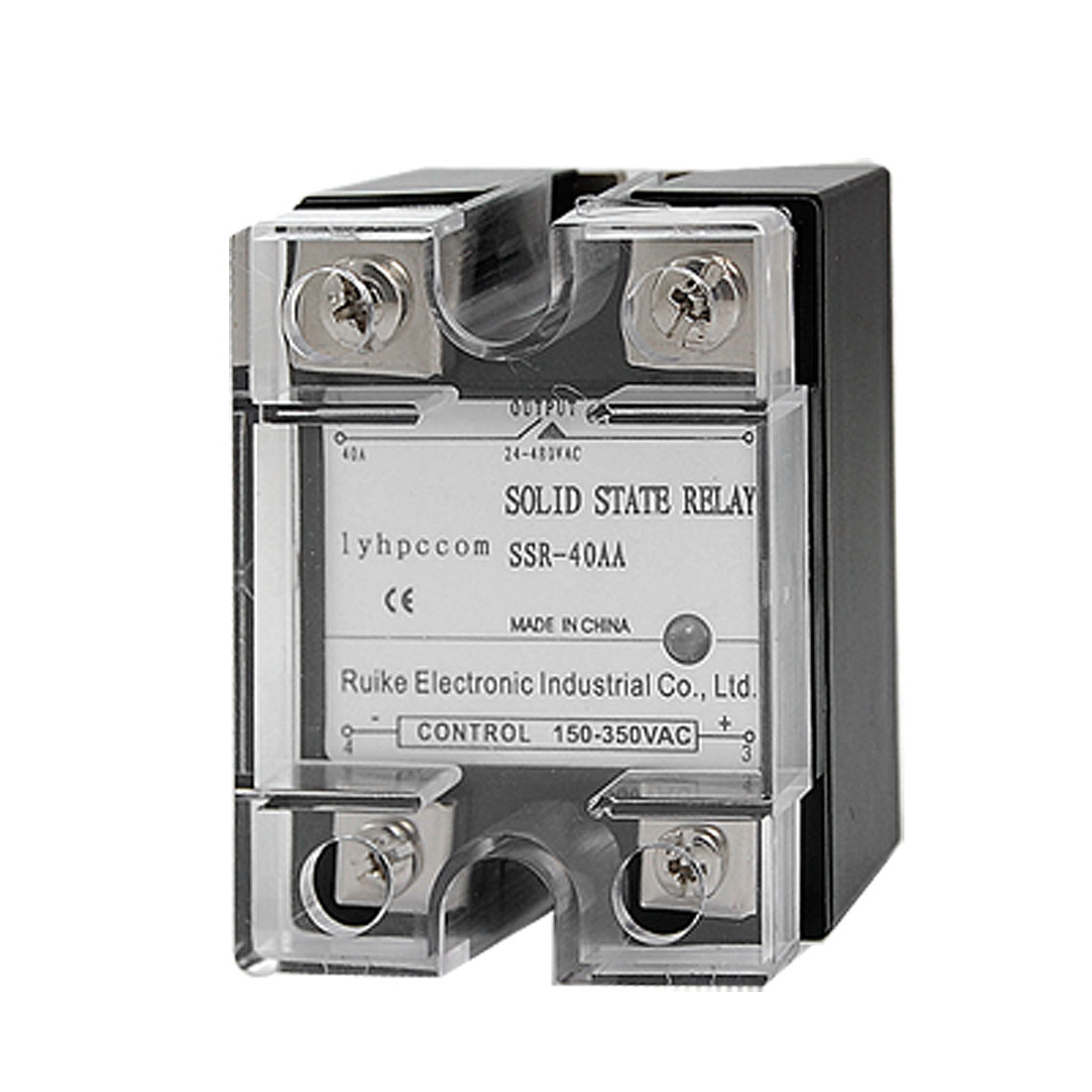 AC-AC Single Phase SSR Solid State Relay 40A AC 150-350V / AC 24-480V