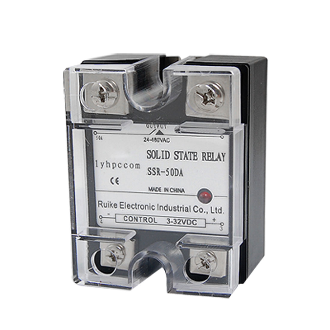 SSR50DA DC to AC 50A Single Phase SSR Solid State Relay