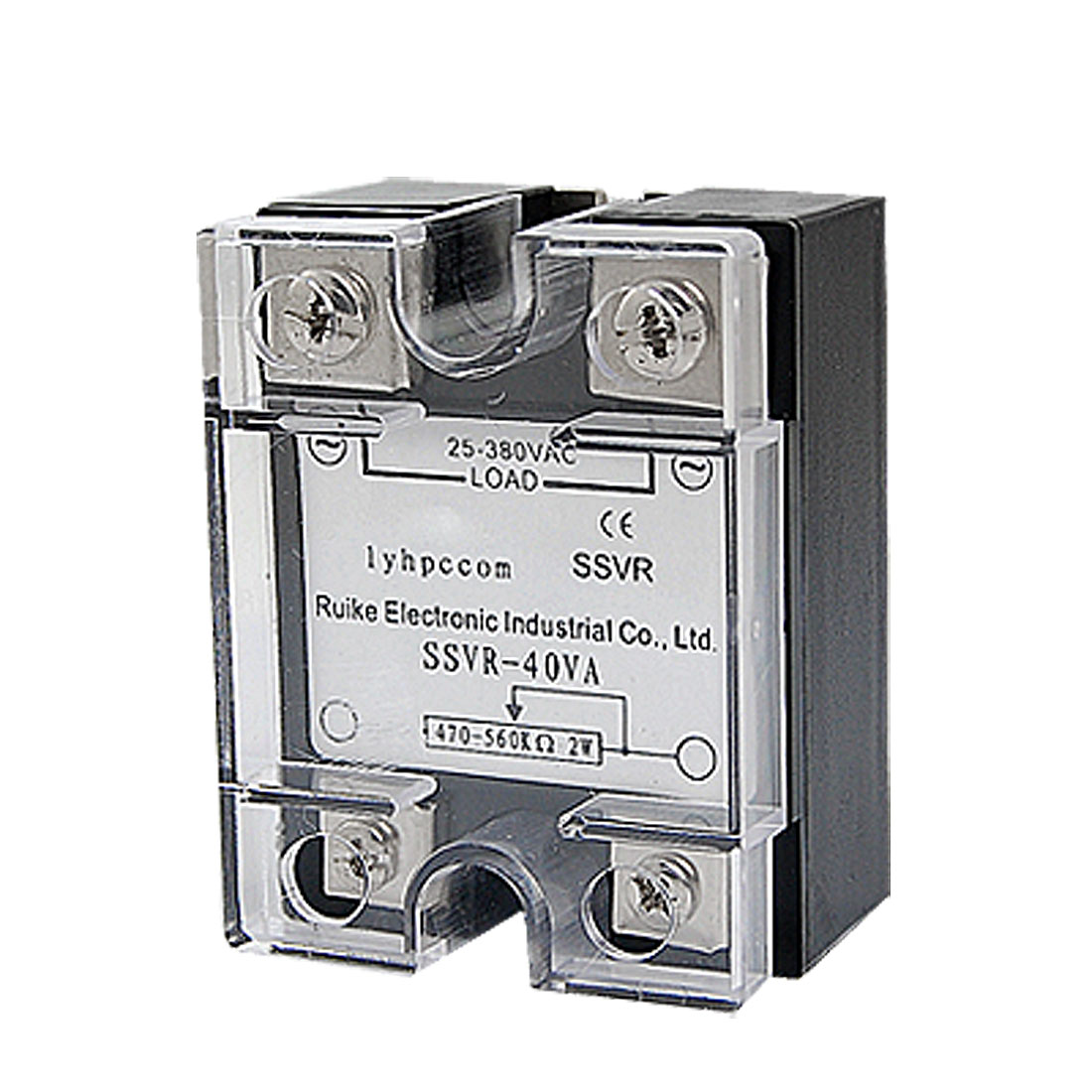 40A 2W AC 25-380V SSR Single Phase Solid State Relay Voltage Resistance Regulator
