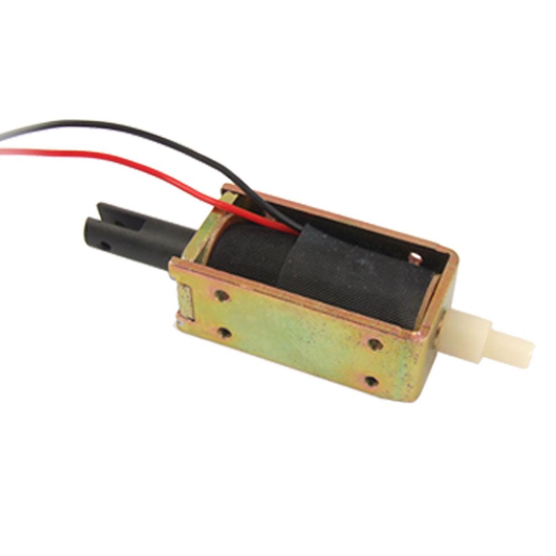 DC 24V 0.34A 5mm Stroke Open Frame Push Type Solenoid Electromagnet