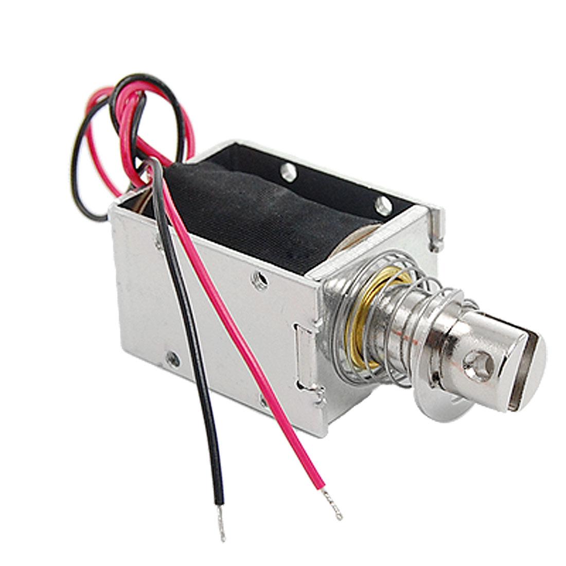 Push Type Open Frame Linear Motion Solenoid Electromagnet DC 24V 0.96A
