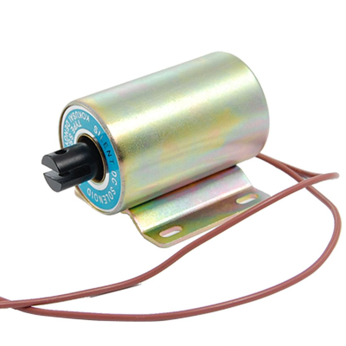 DC 220V 0.68A 0-20mm Stroke Pull Type Linear Solenoid Electromagnet