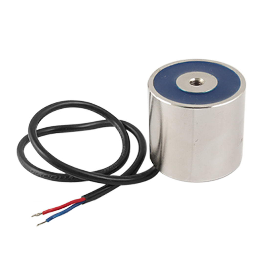 24V 45mm OD Sucked Type Cylindrical Electromagnet 30Kg Solenoid