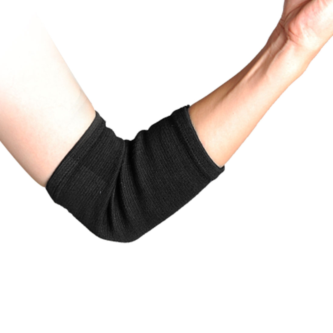 Pair Sports Pullover Style Elastic Black Elbow Support Protectors