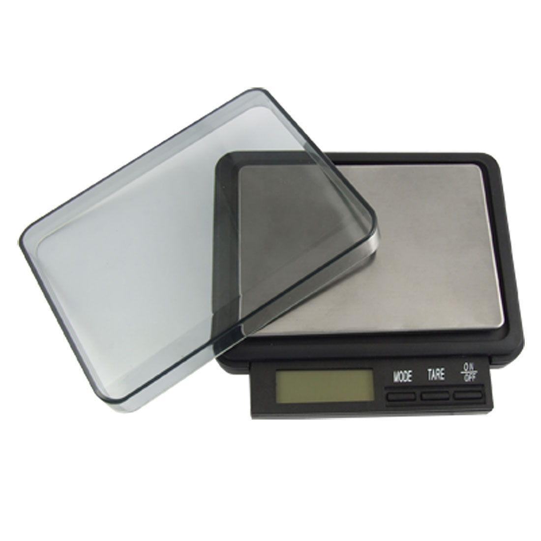 LCD Display Digital Pocket Rectangle Weight Scale Black