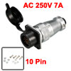 PLS24-10 Waterproof AC 250V 7A 10 Pin Circular Connector Adapter