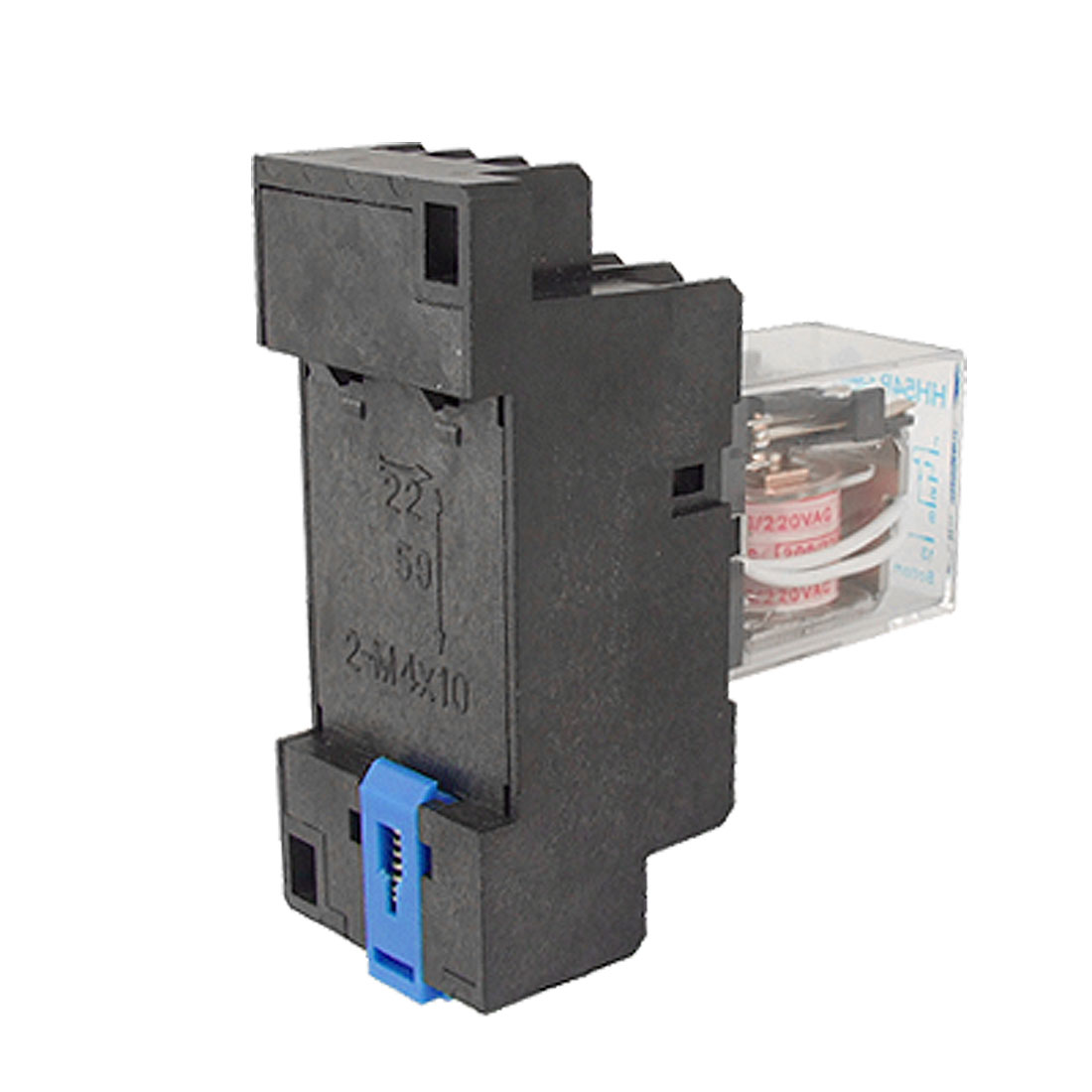 AC 220V Coil Electromagnetic Relay 14 Pin 4PDT HH54P w Socket