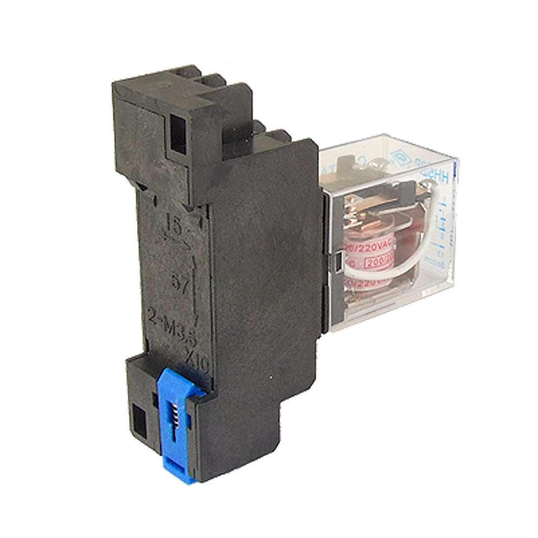 MY2NJ HH52P-L AC 220V Coil Power Relay 8 Pin DPDT w PYF08A Socket Base
