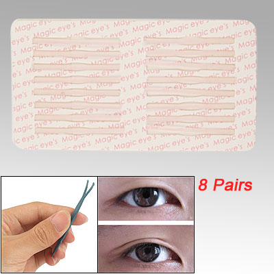 8 Pairs Clear Pink Double Eyelid Shaping Tape Sticker