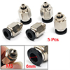 5 Pcs 6mm One Touch Push in Connect Pneumatic Quick Fittings