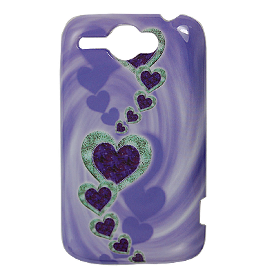 Plastic Purple IMD Back Guard Cover Case for HTC Wildfire G8