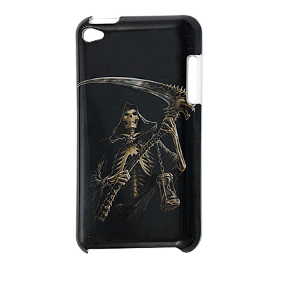 Black Skull Print IMD Back Shell Cover Guard for iPod Touch 4