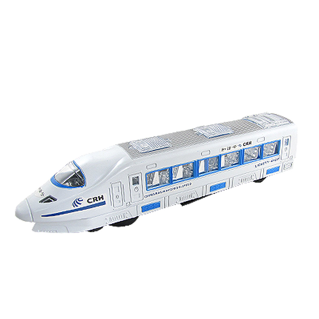 Children White Plastic Automatic Change Direction Flash Train Toy