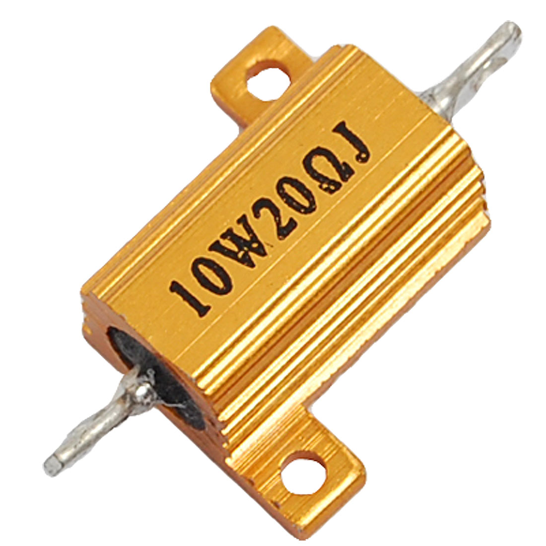 Gold Tone Aluminum Housed Wire Wound Resistor 10W 20 Ohm 5%