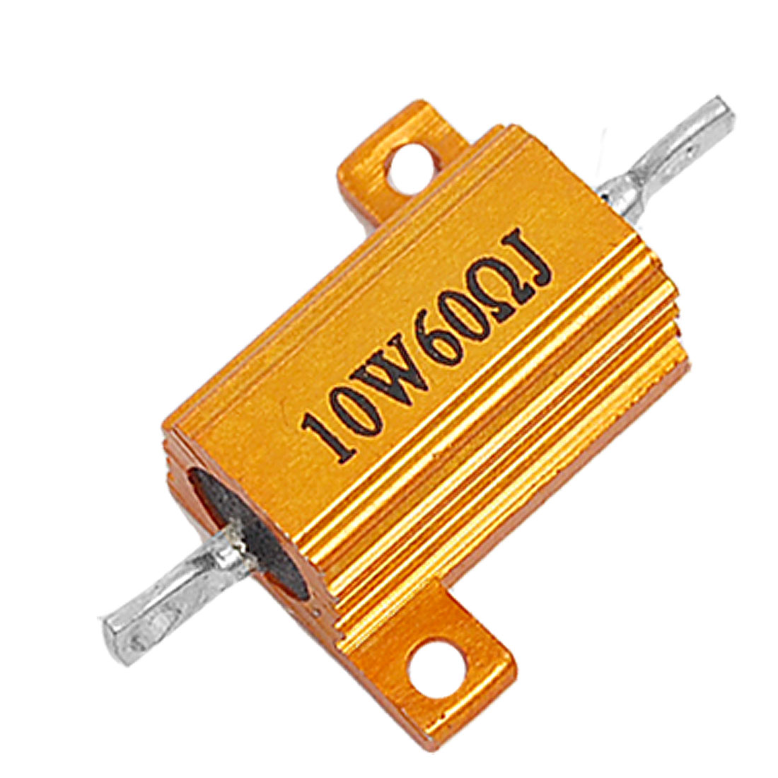 10W 5% 60 Ohm Resistance Value Screw Tabs Aluminum Case Resistor