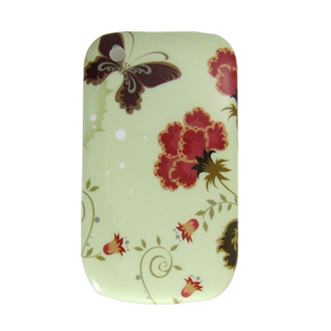 Floral Butterfly IMD Back Case for BlackBerry 8520