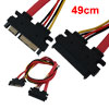 SATA 22 Pin Serial ATA Male to Female Data Transfer Cable 19.3""