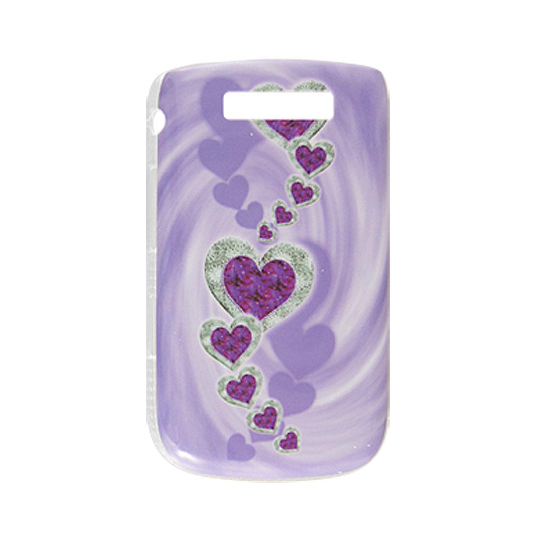 Light Purple IMD Heart Back Case Cover for BlackBerry 9800
