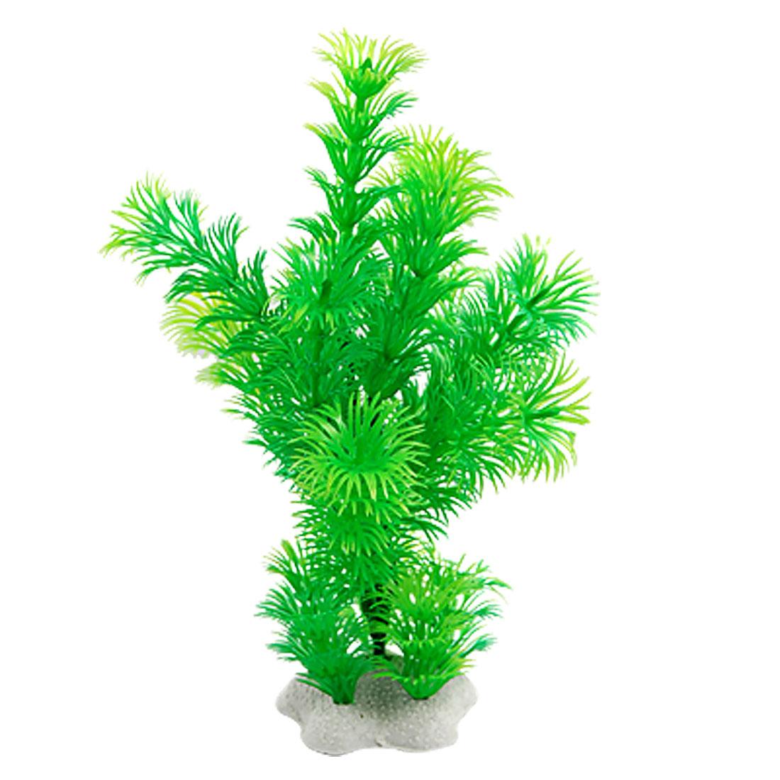 "Fish Tank 7.5"" Height Green Plastic Water Plant Grass Decoration"