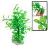 """7.8"""" Height Green Plastic Elliptic Leaf Plant Decor for Aquarium"""