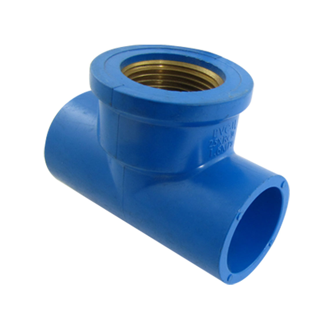 25mm Female Thread 3 Way T Connector Water Splitter PVC Pipe Fitting