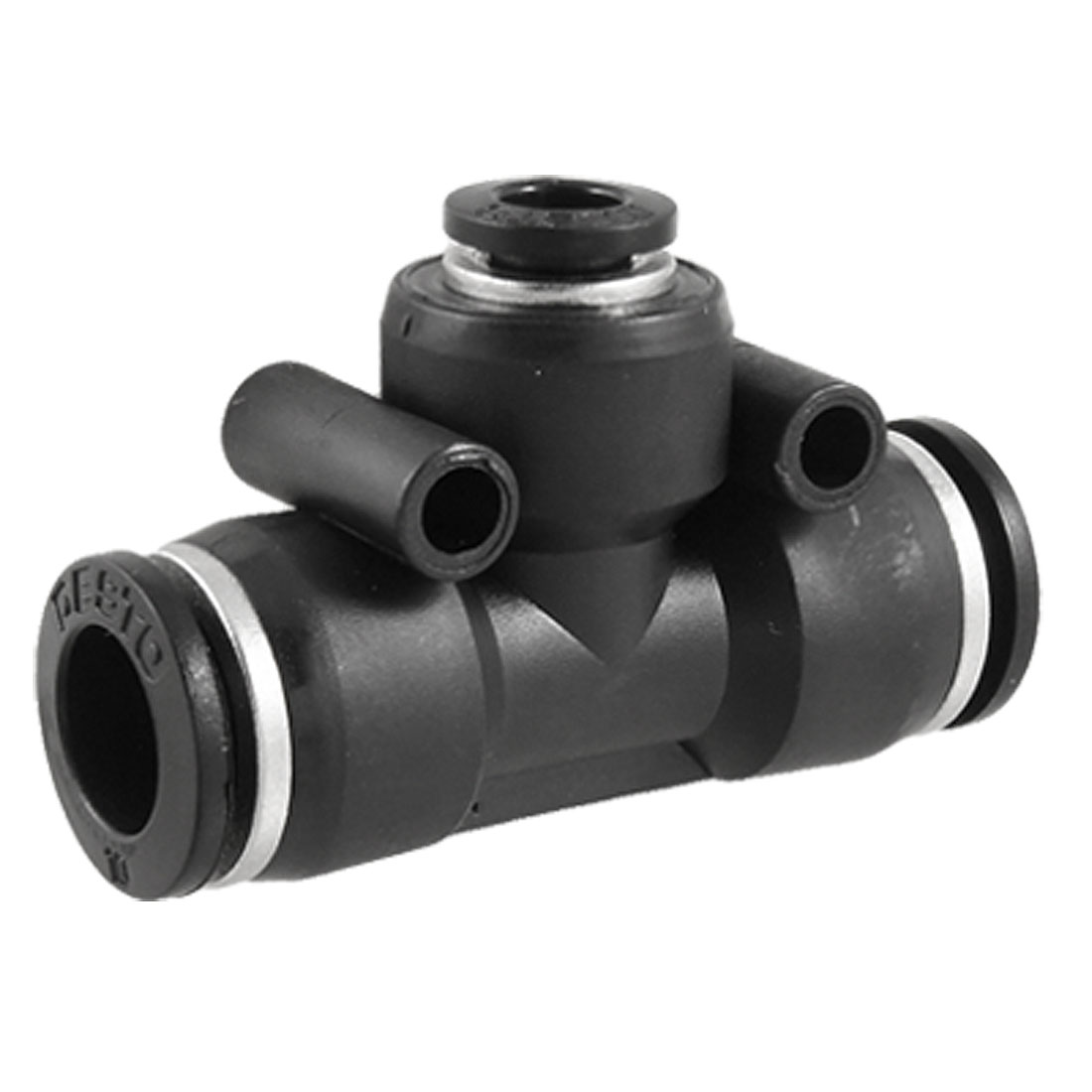 8mm to 12mm T Connector Plastic One Touch Push In Quick Fittings Black