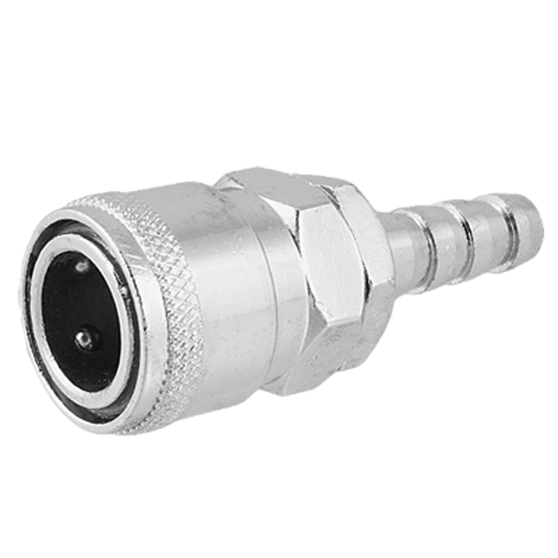 Pneumatic Air Pressure Pipe 11mm Metal Quick Coupler Silver Tone