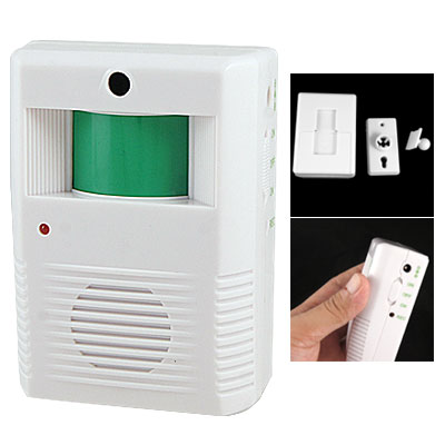 Wall Ceiling Mount 120 Degrees Directions Motion Sensor Doorbell White