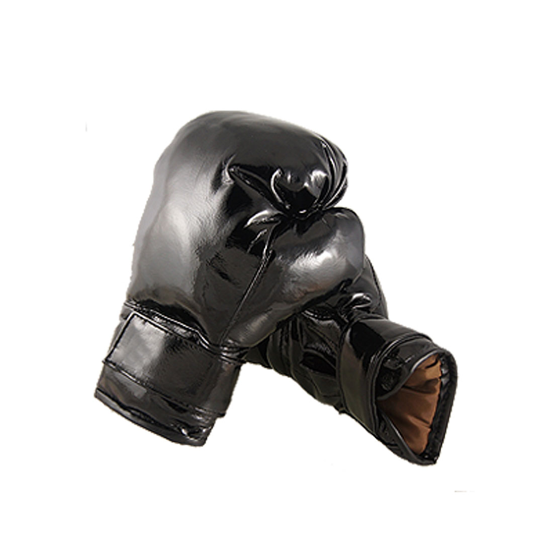 Men Sports Professional Black Faux Leather Soft Padded Boxing Gloves