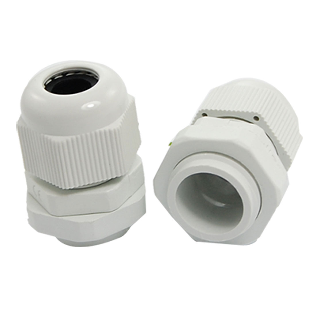 2 Pcs Waterproof PG11 White Plastic Cable Gland Connectors