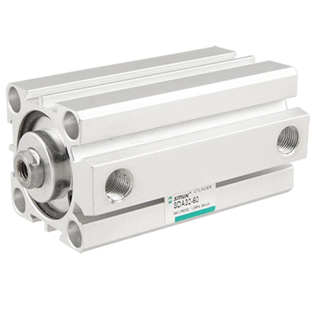 SDA32-60 Dual Action Single Rod Pneumatic Air Cylinder