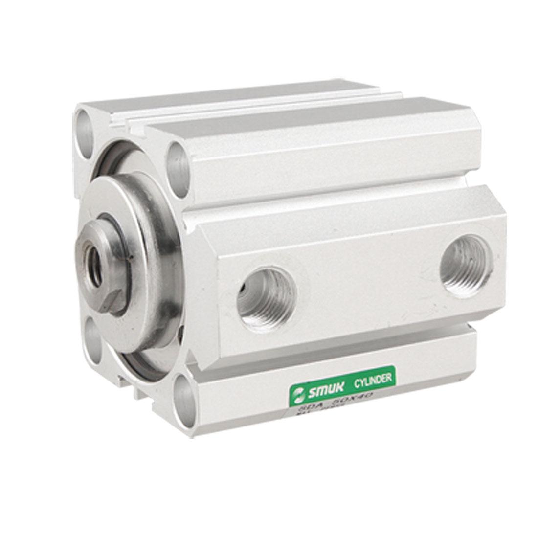 Single Rod 50mm Bore 40mm Stroke Pneumatic Air Cylinder Avwec
