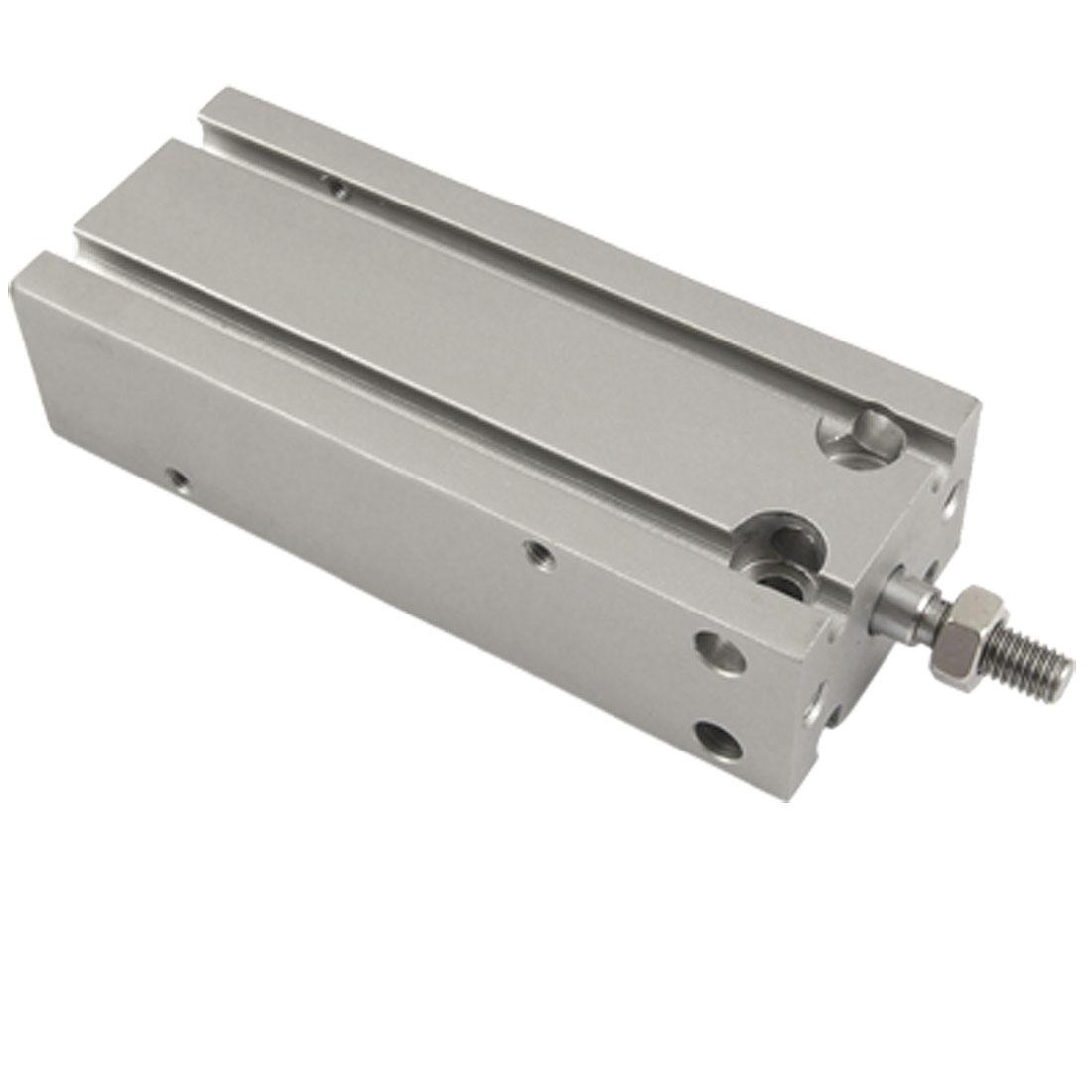 Silver Tone 16mm Bore Pneumatic Air Cylinder CDU16-40