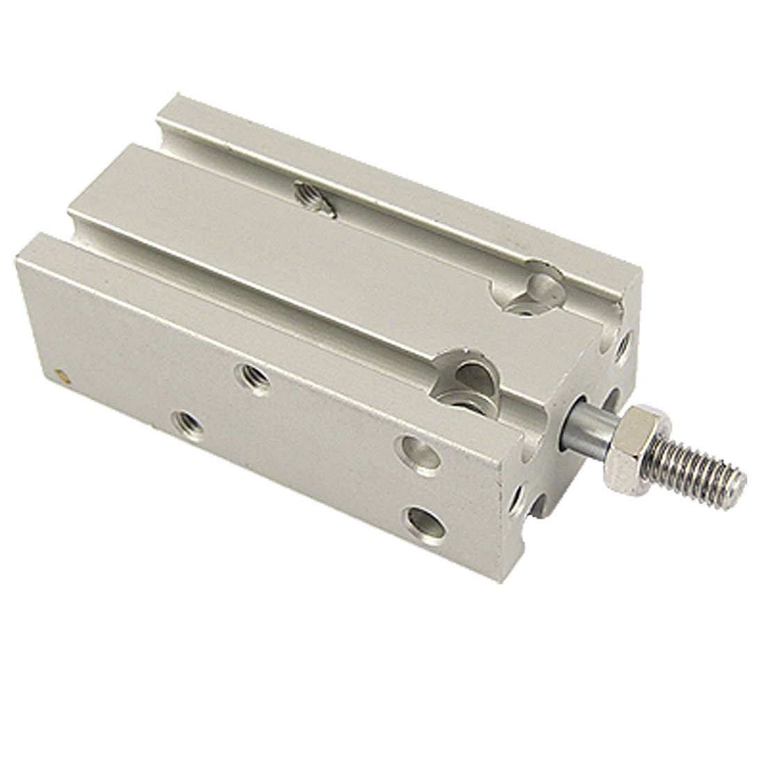 CDU10-10 10mm Bore Pneumatic Air Cylinder Silver Tone