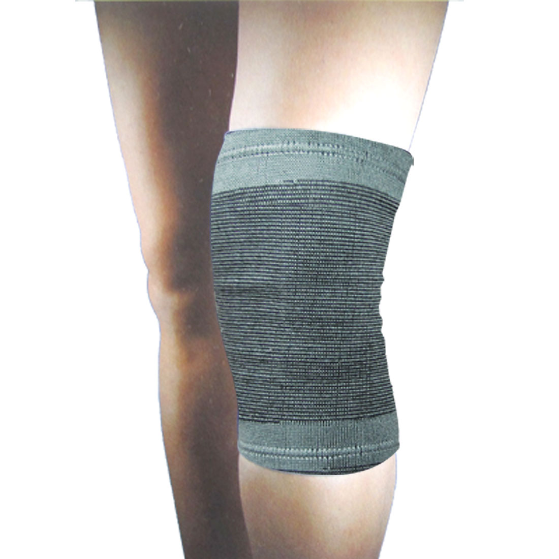 Elastic Sleeve Stripe Pattern Knee Support Brace Brace