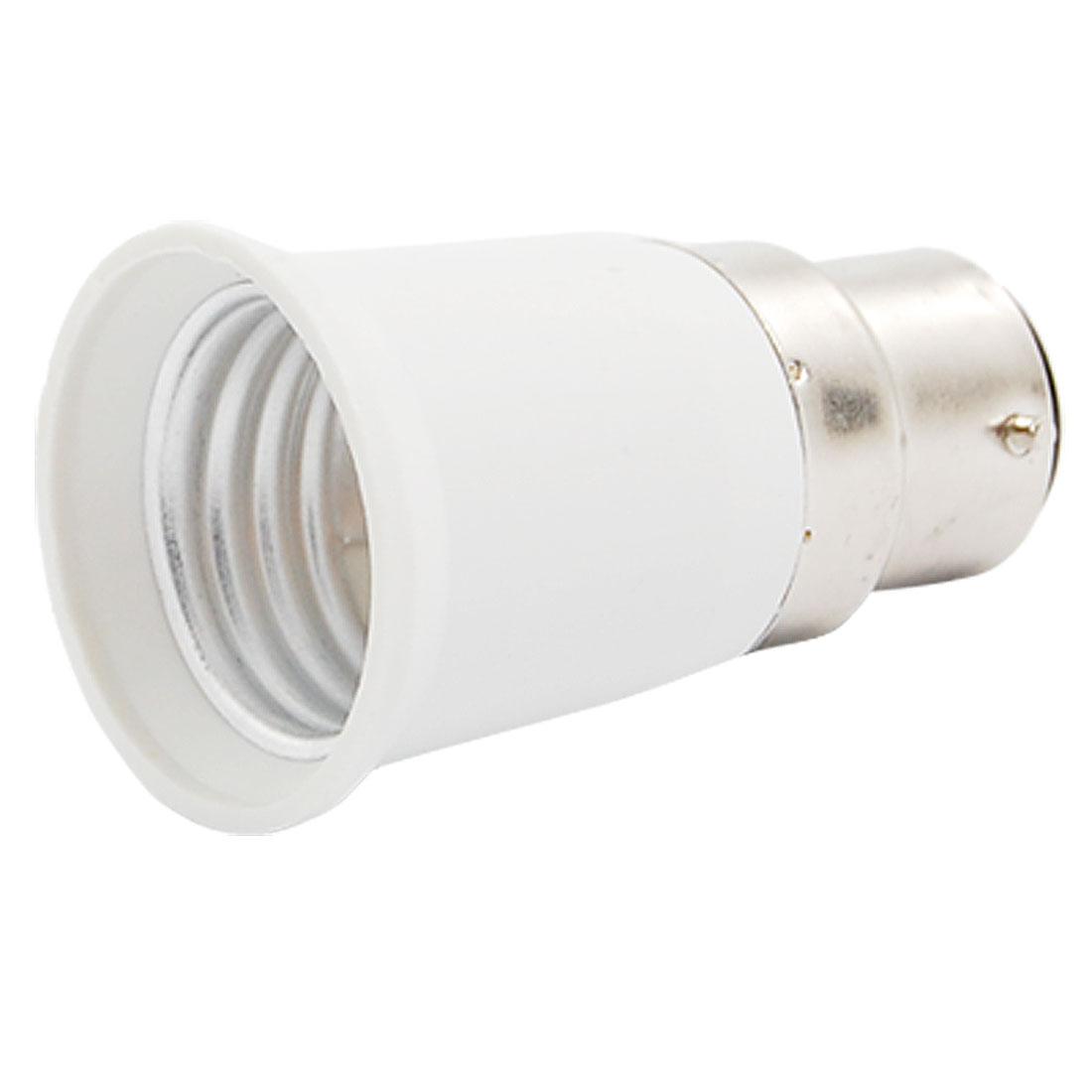 B22 to E27 Base LED Light Lamp Bulb Holder Adapter Converter