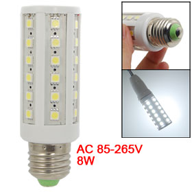 AC 85-265V 8W E27 Screw Base White Lamp 44 LEDs Corn Light Bulb