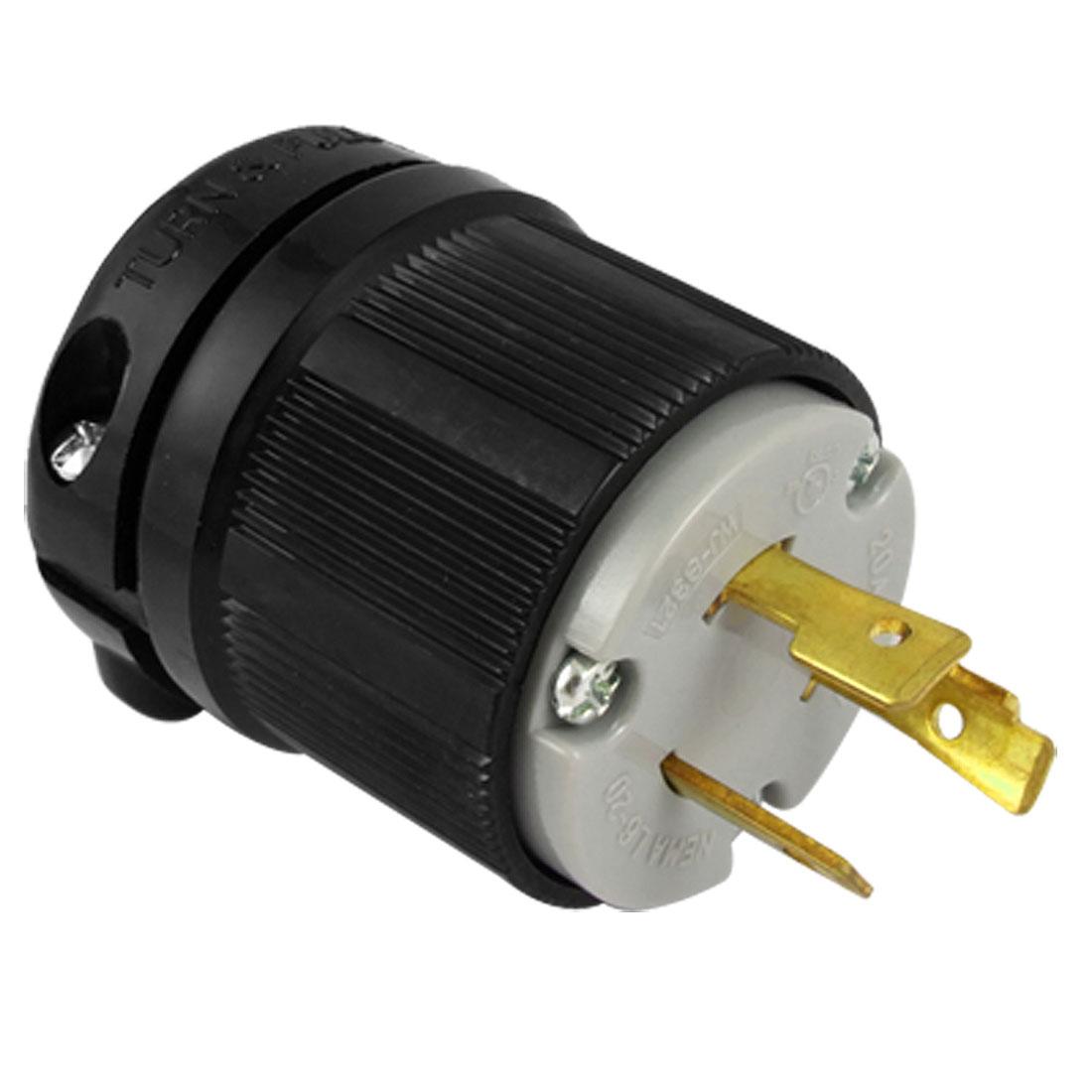 AC 250V 20A Nema L6-20P 3-Prong Twist Lock Male Replacement Plug