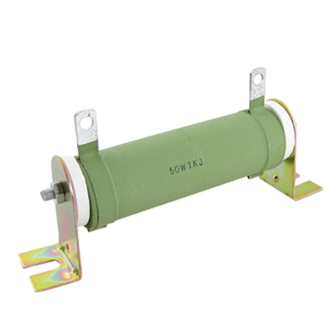 1K ohm 5 Watts High Power Ceramic Tube Resistor 50W