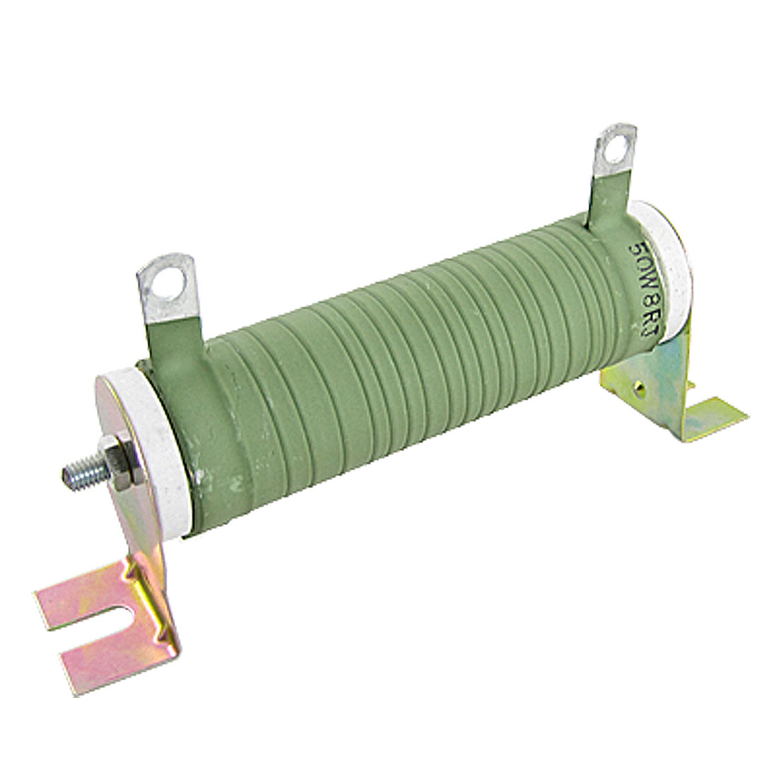 Ceramic Tube Fixed Wirewound Resistor 50W Watt 8 ohm
