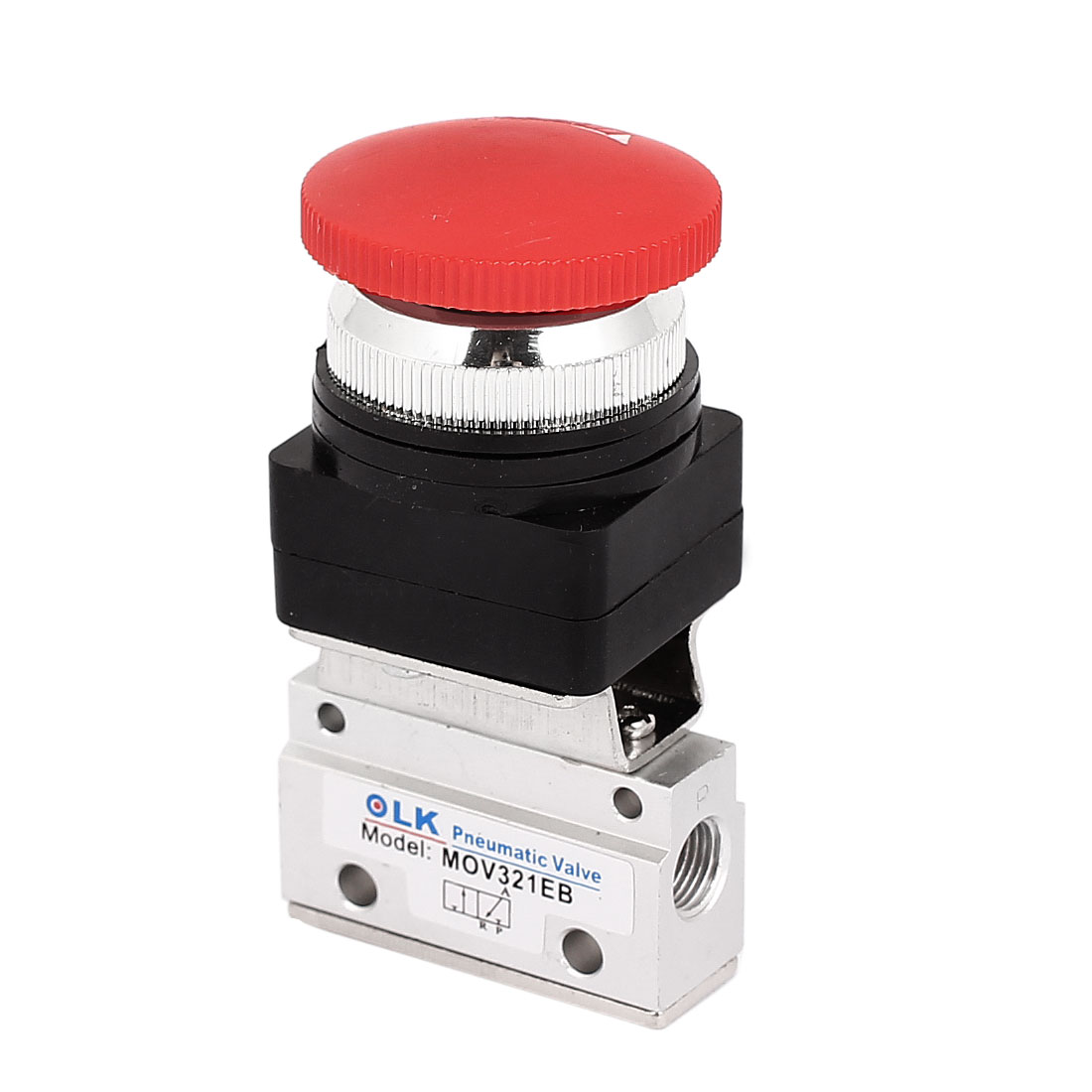 2 Position 3 Way Push Button with Lock Mechanical Valve MOV-03