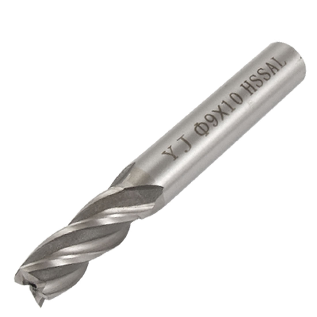 9mm x 10mm Straight Shank 4 Flutes End Mill Cutter Gray