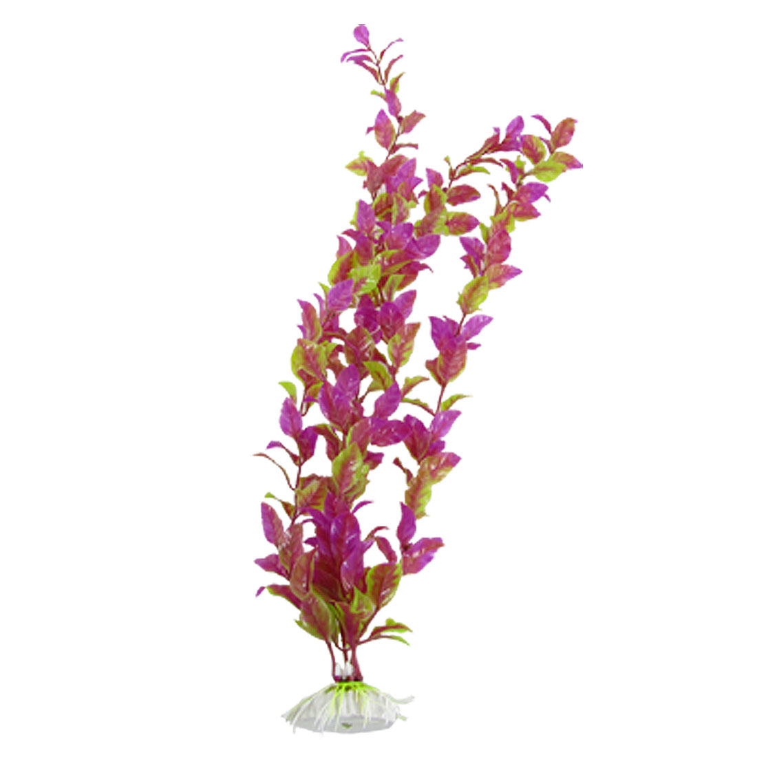 Fish Tank Purple Green Plastic Landscaping Plant Decor