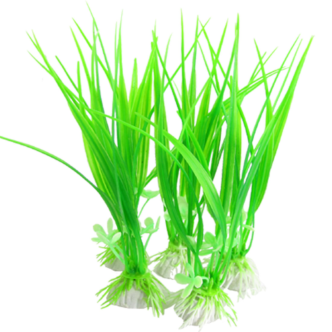 5 Pcs Green Plastic Plants Grass Decorative for Fish Tank