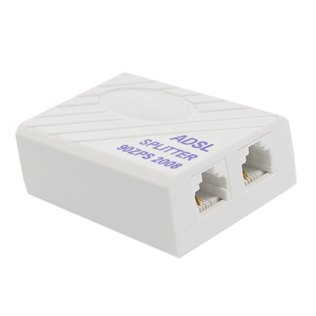 Phone Telephone ADSL Modem 6P2C RJ11 Line Splitter Filter White