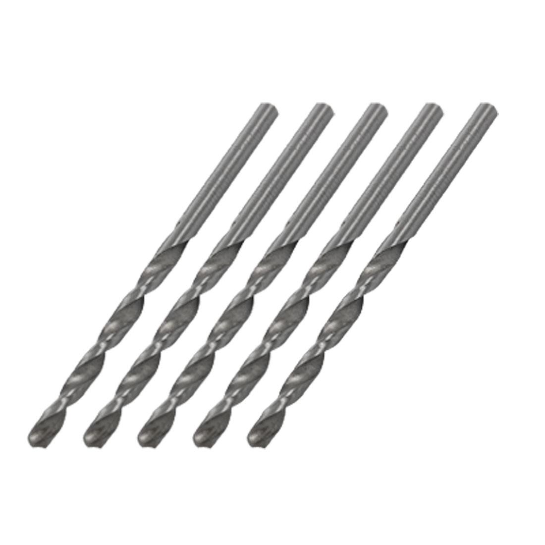 5 Pcs High Speed Steel HSS Straight Shank 3.2mm Twist Drill Bit