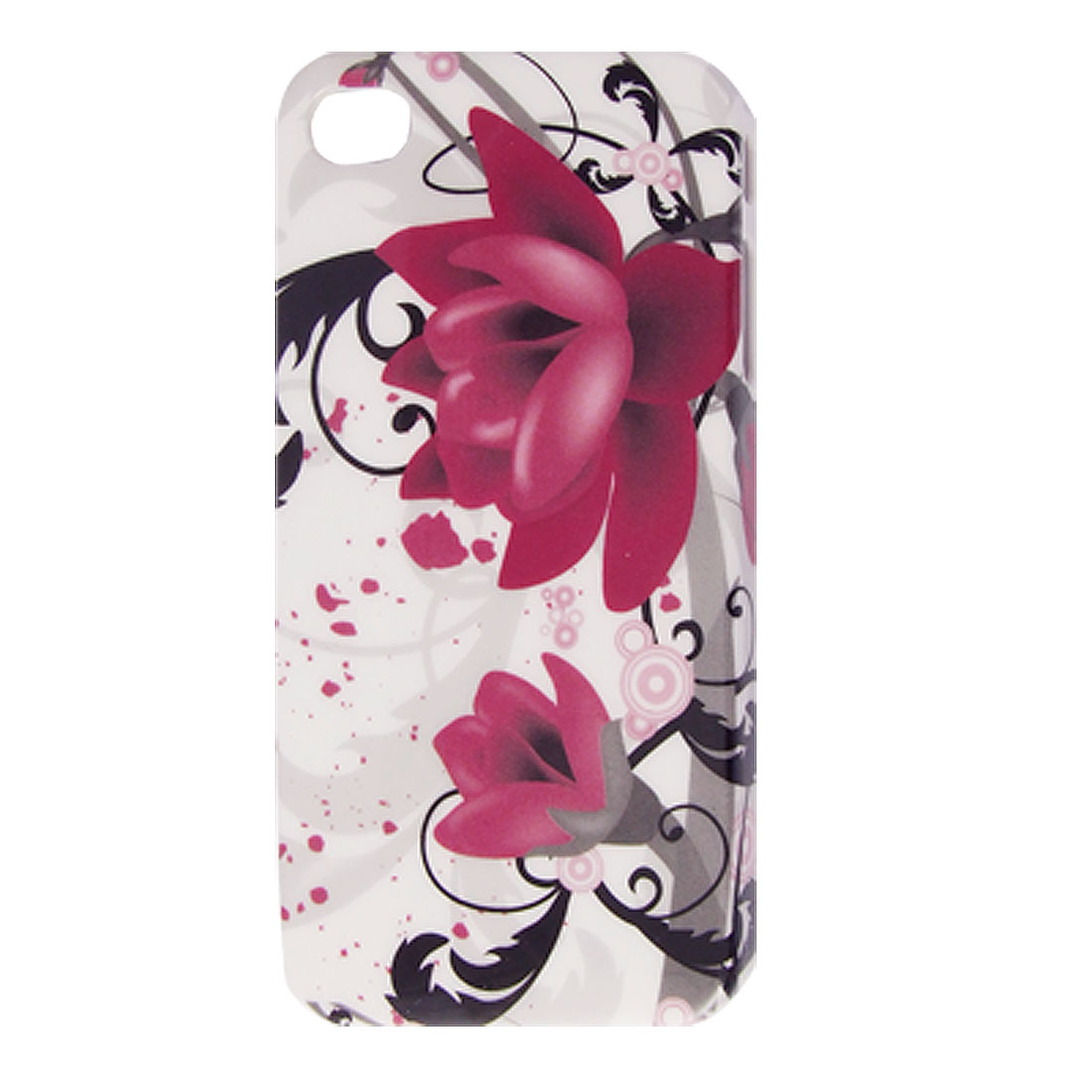 IMD Amaranth Flowers Hard Plastic Back Case for iPhone 4 4G