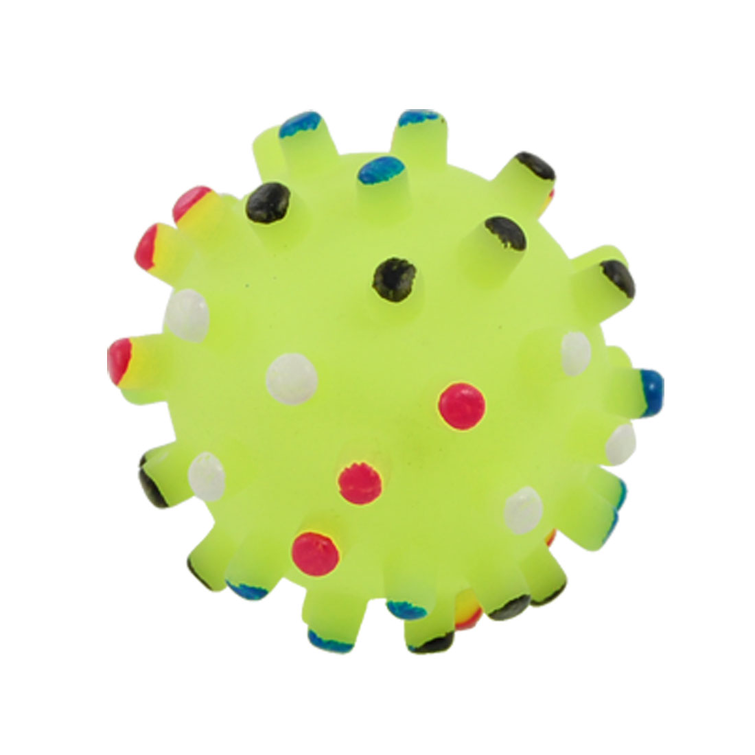 Yellowgreen Ball Shaped Squeeze Squeaky Chew Toy for Pet Dog