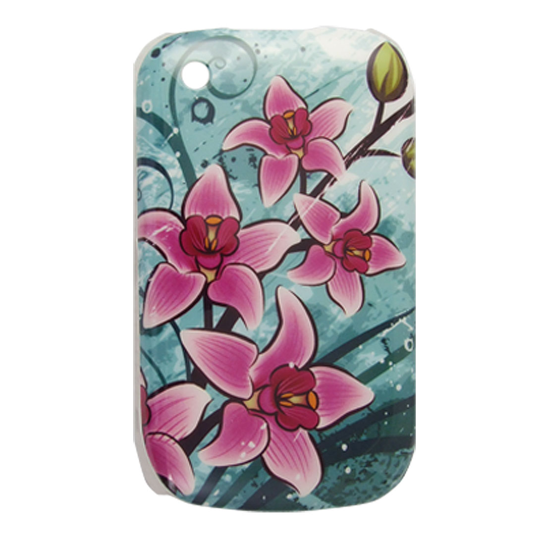 IMD Purple Flowers Hard Plastic Back Case for Blackberry Curve 8520