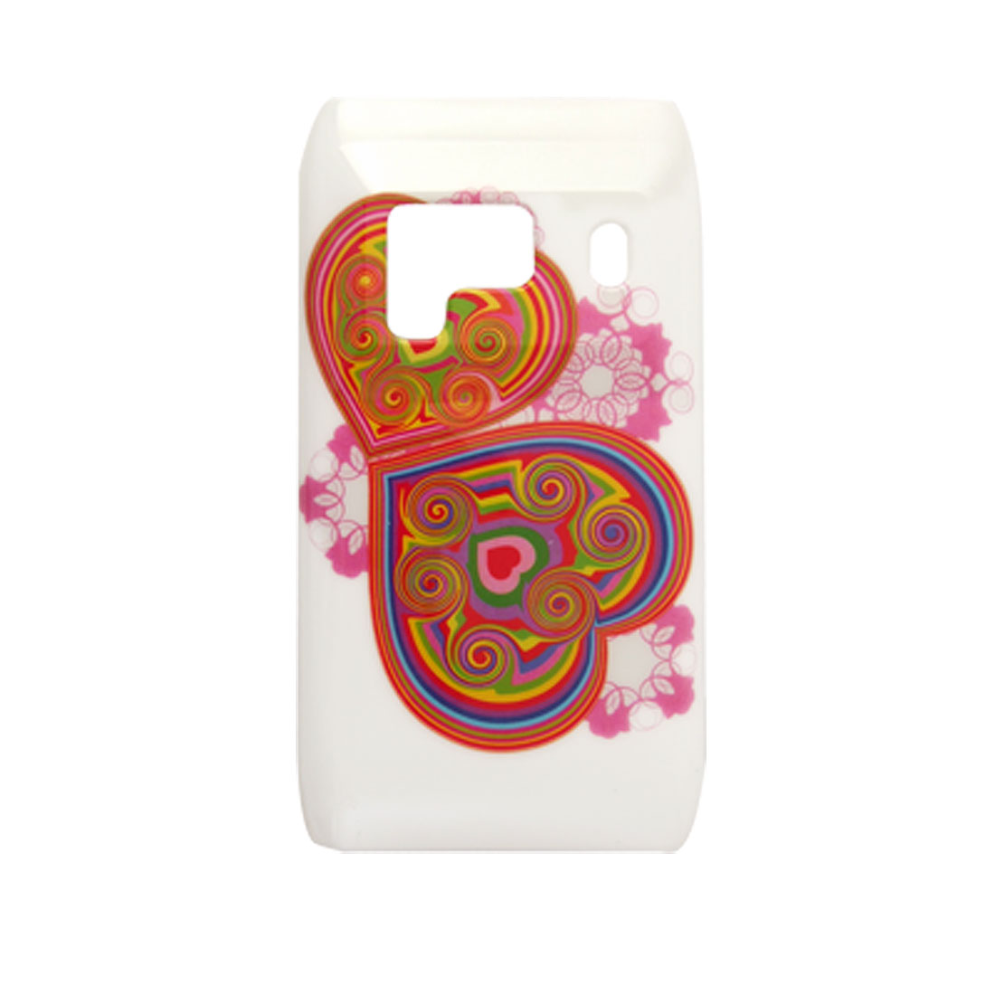 Colorful Heart Print IMD Plastic Back Case for Nokia N8